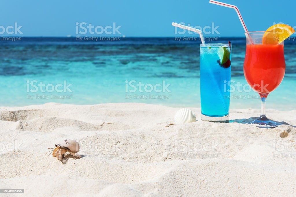 Tropical beach holidays stock photo