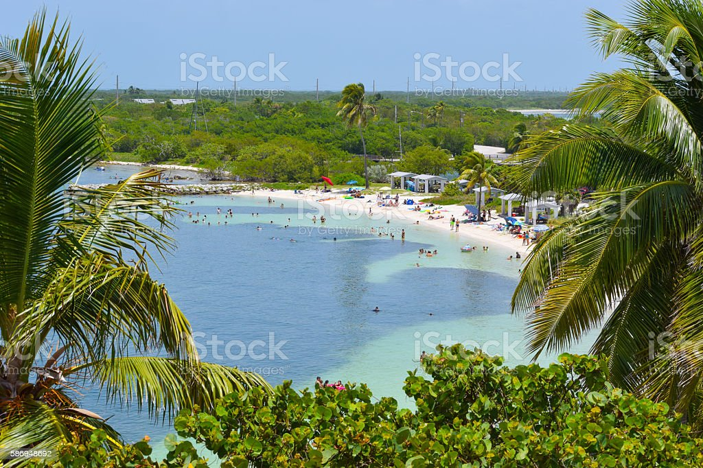 Tropical Beach in Florida Keys stock photo