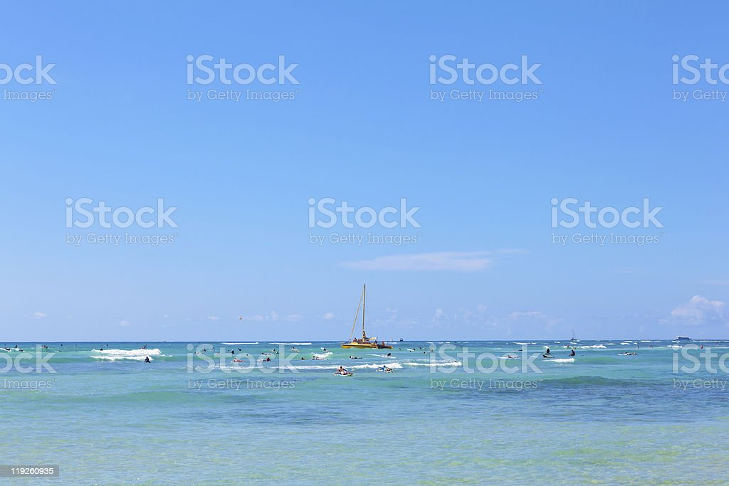 Tropical beach in Hawaii royalty-free stock photo