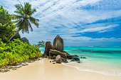 Tropical beach in Seychelles, Mahe