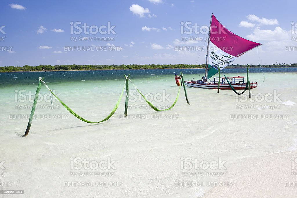 Tropical Beach, Jericoacoara, Brazil stock photo