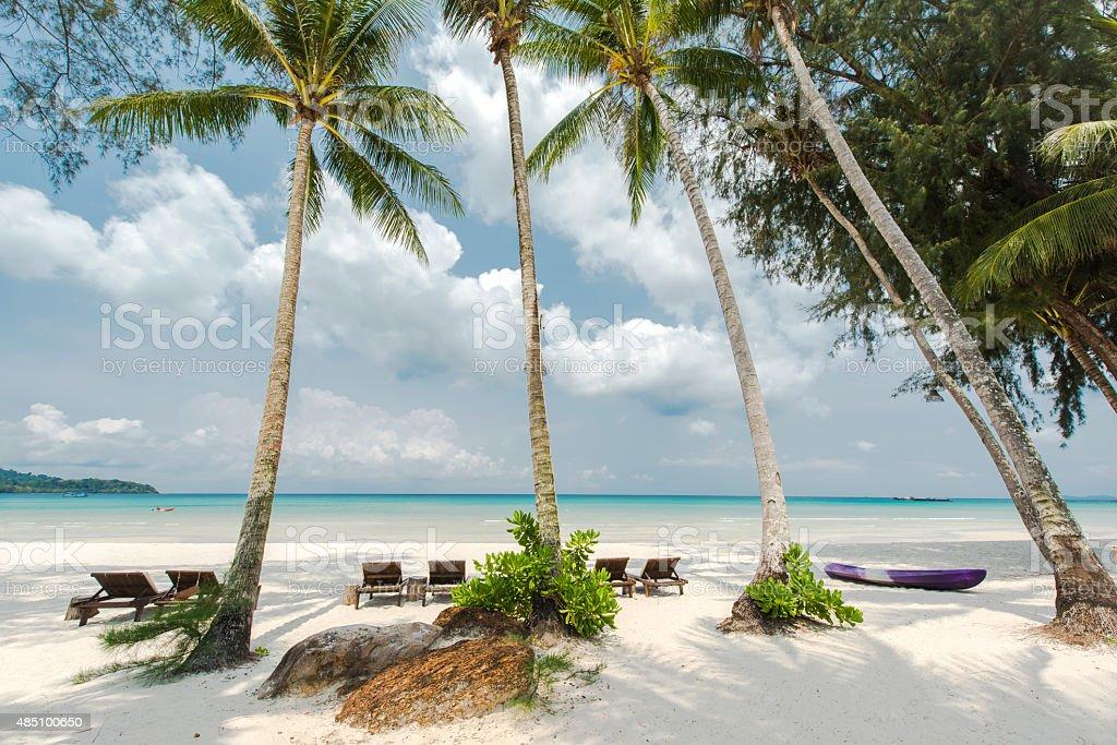 Tropical beach landscape at Koh Kood island,Thailand stock photo