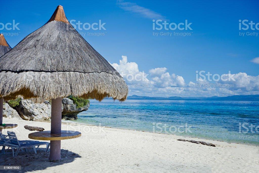 Tropical beach landscape stock photo