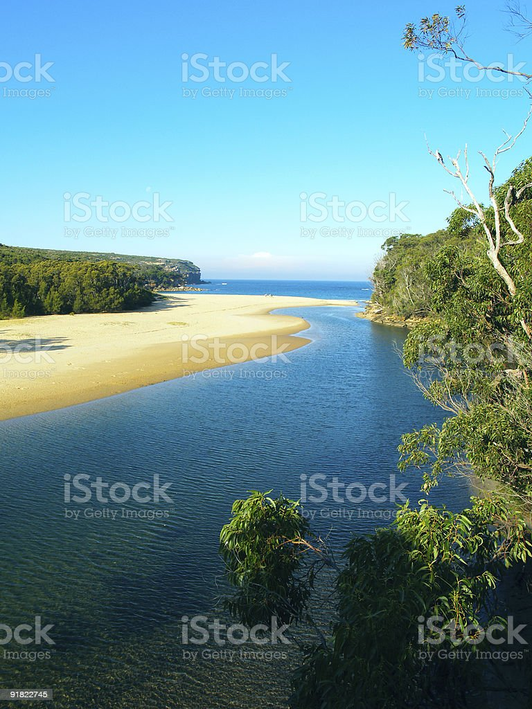 tropical beach near Sydney royalty-free stock photo