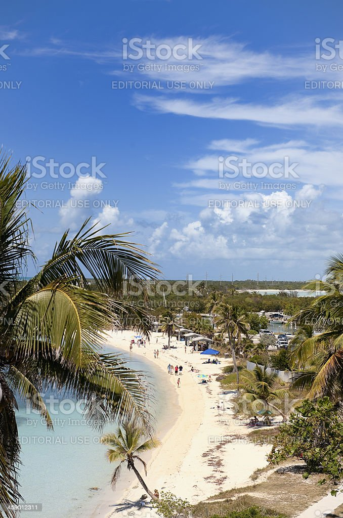 tropical beach of Bahia Honda Key Florida USA stock photo