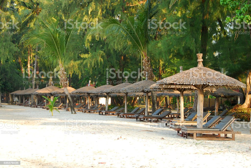 Tropical Beach on Koh Chang in Thailand stock photo