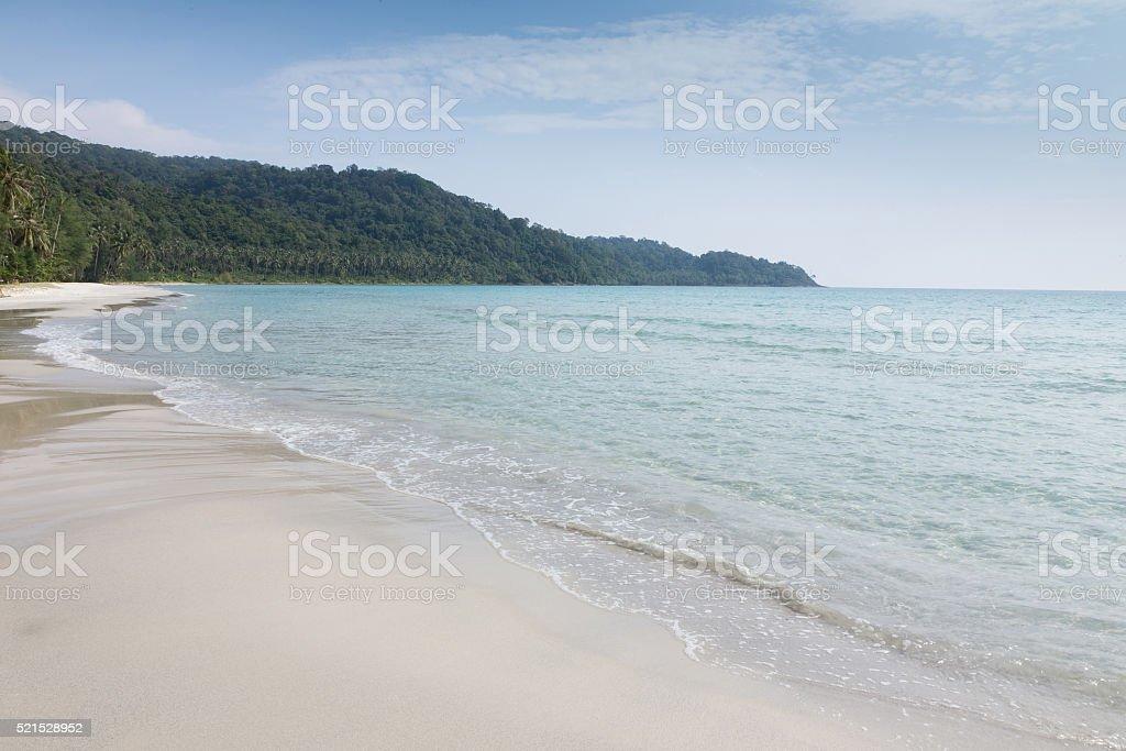 Tropical beach on koh kood island stock photo