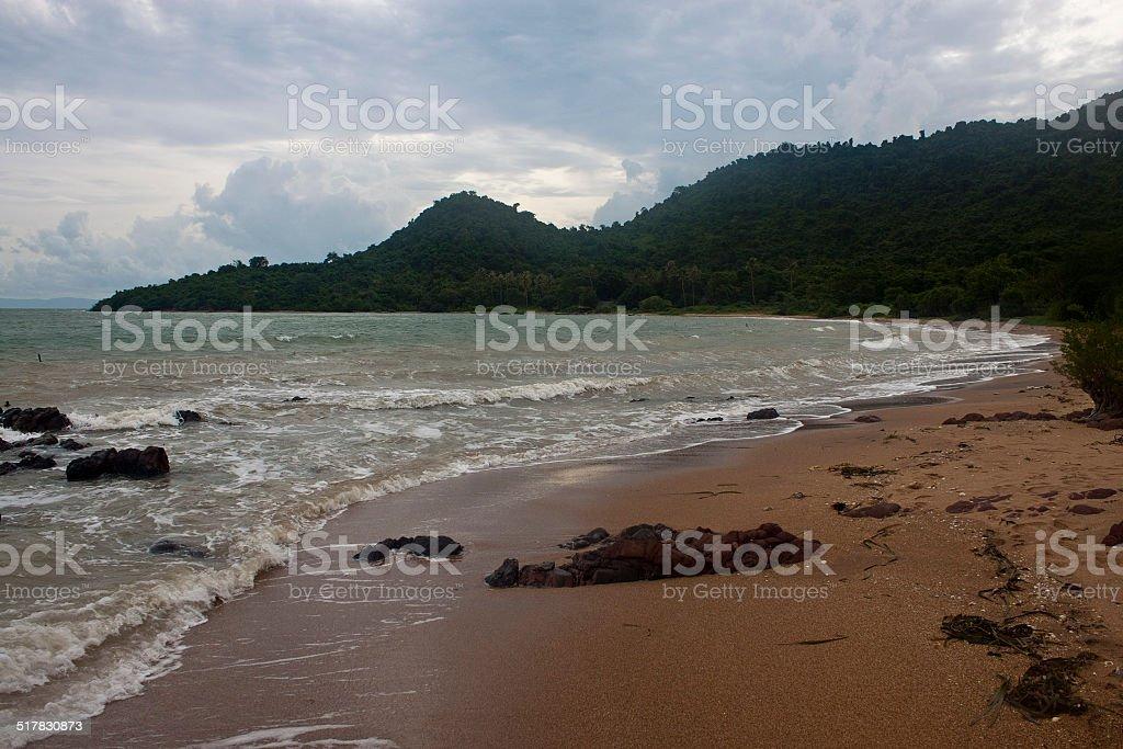 Tropical beach  on Koh Tonsay island stock photo