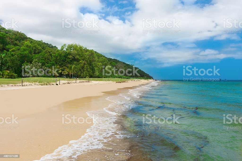 Tropical beach on the Moreton Island, Queensland, Australia stock photo