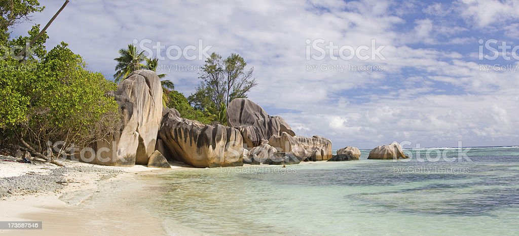 tropical beach panorama royalty-free stock photo