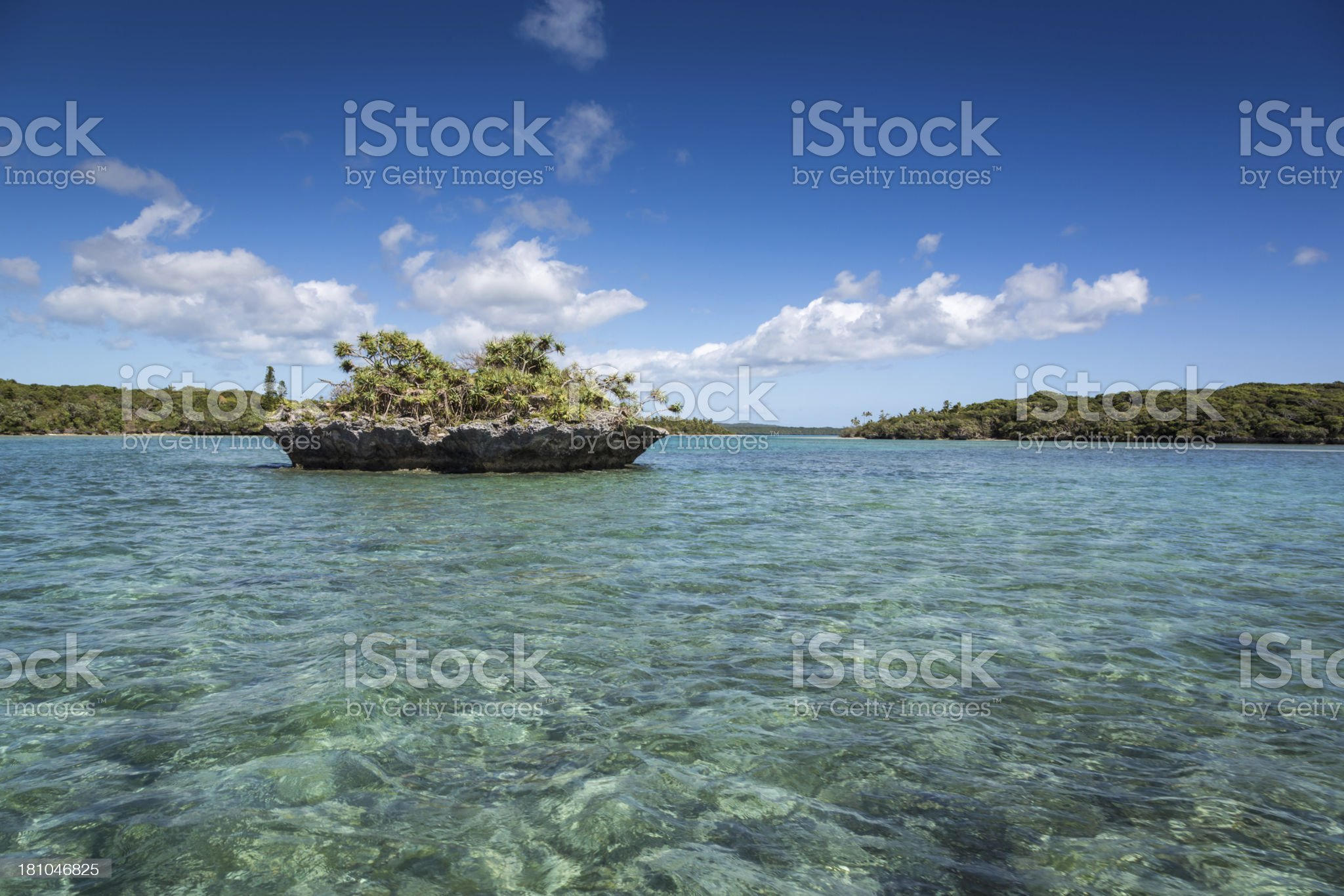 Tropical Beach Paradise, Isle of Pines, New Caledonia royalty-free stock photo