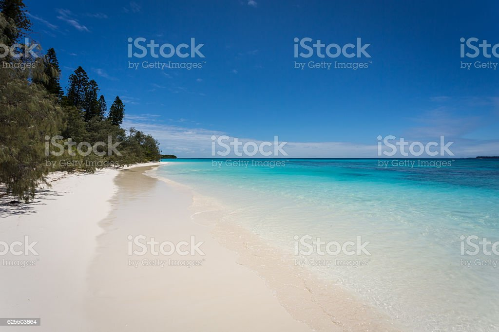 Tropical Beach Paradise, Isle of Pines, New Caledonia stock photo