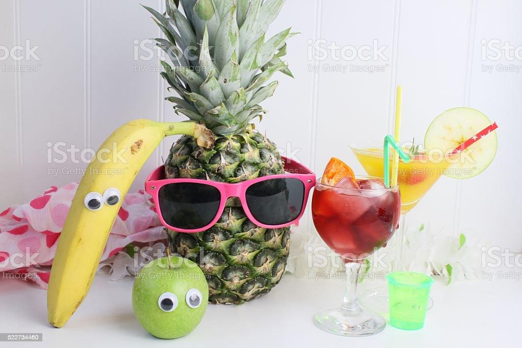Tropical beach party stock photo