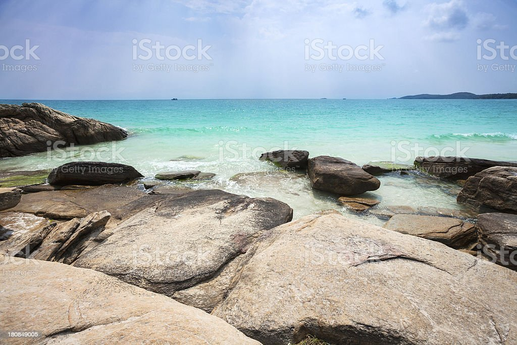 Tropical beach royalty-free stock photo