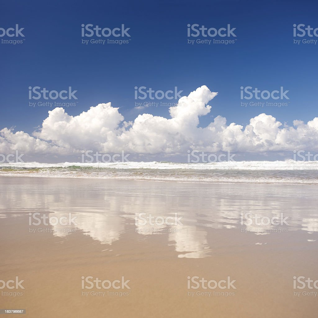 Tropical Beach Reflection royalty-free stock photo