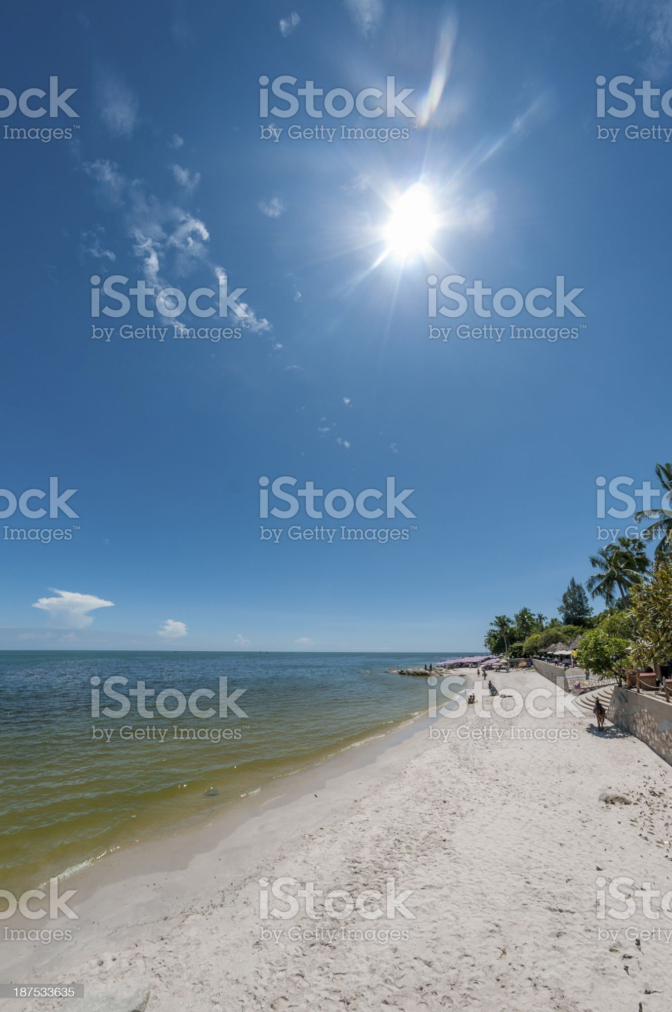 Tropical Beach Resort royalty-free stock photo