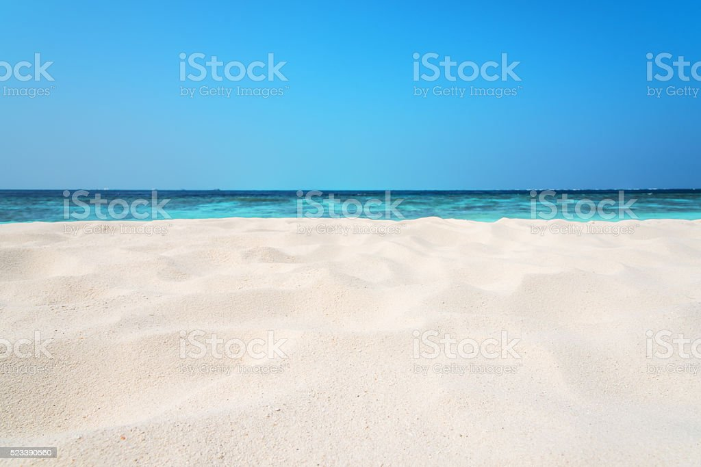 Tropical beach sand dune background stock photo