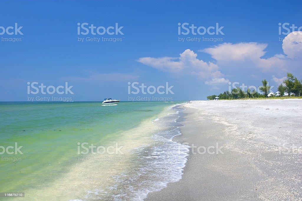 Tropical Beach - Sanibel Island stock photo