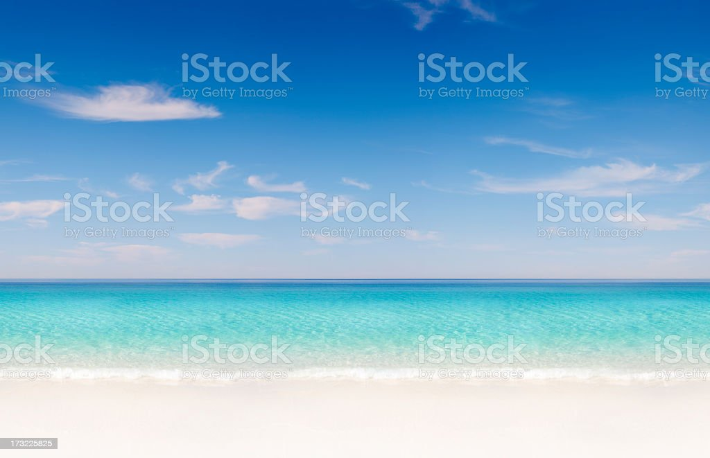 Tropical Beach Seamless Tile royalty-free stock photo