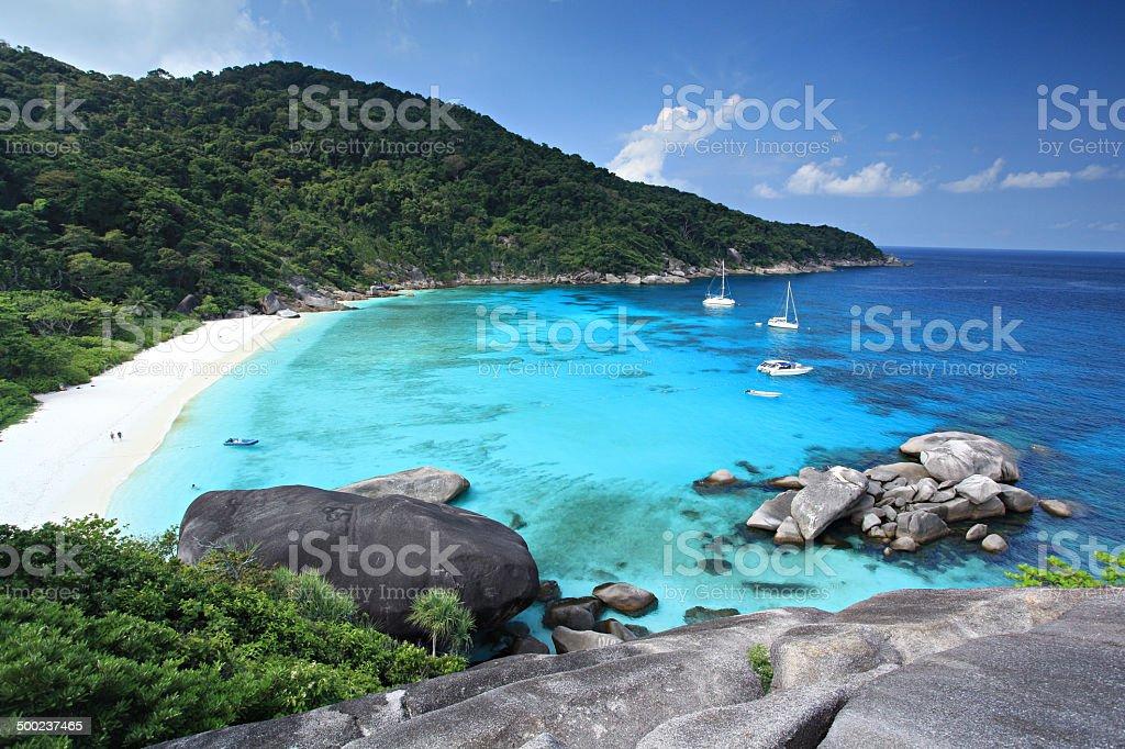 Tropical beach, Similan Islands, Andaman Sea, Thailand stock photo