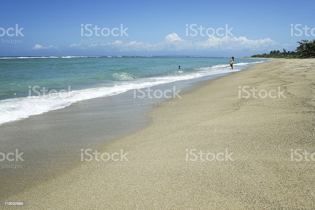 Tropical beach south luzon philippines stock photo