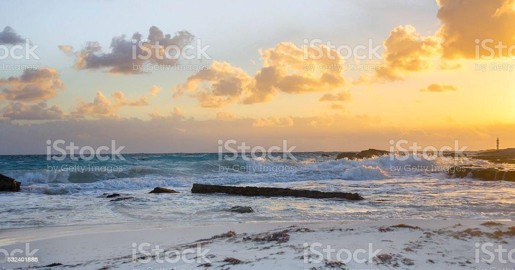 Tropical Beach Sunset Sunrise stock photo