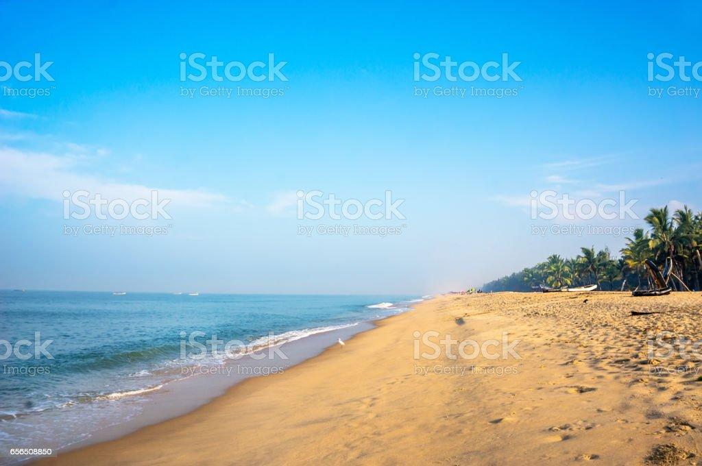 Tropical beach taken in mararikulam stock photo