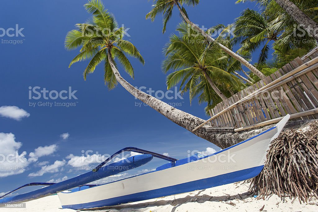 Tropical beach view royalty-free stock photo