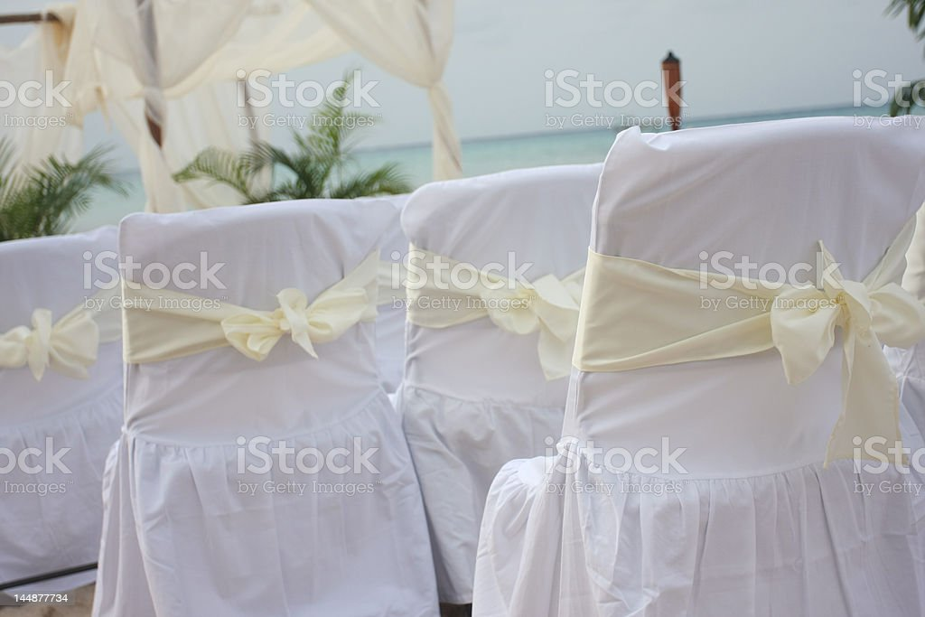 Tropical beach wedding #3 royalty-free stock photo