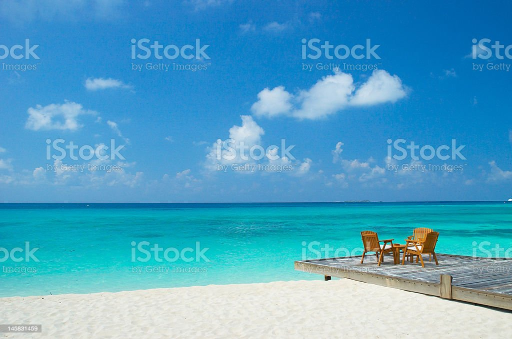 tropical beach with lots of copy space royalty-free stock photo