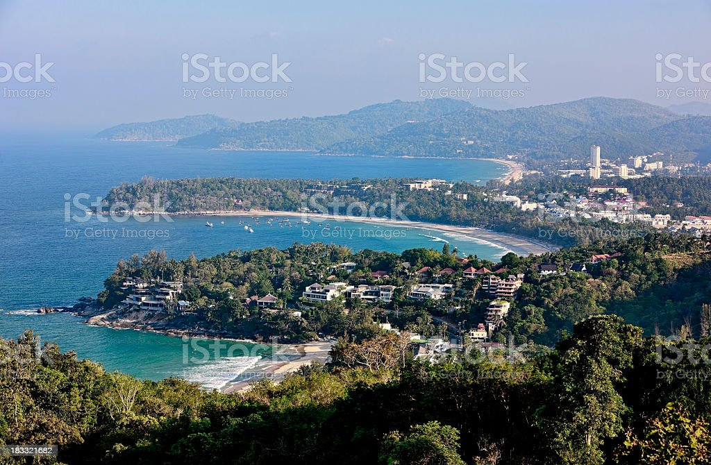 Tropical beaches and bays Phuket, Thailand. stock photo
