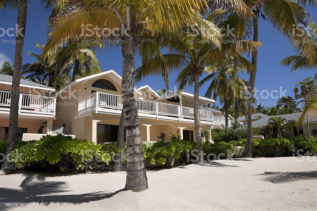 Tropical Beachfront Villas, Antigua royalty-free stock photo