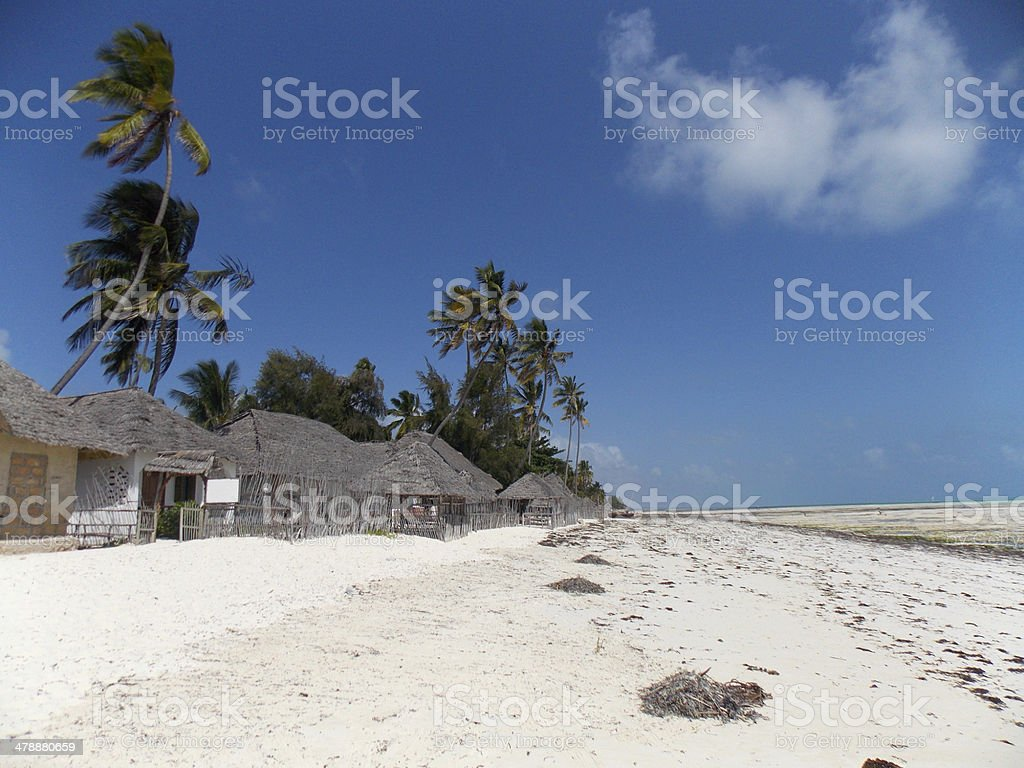 Tropical beautiful beach of Zaznibar, Tanzania stock photo