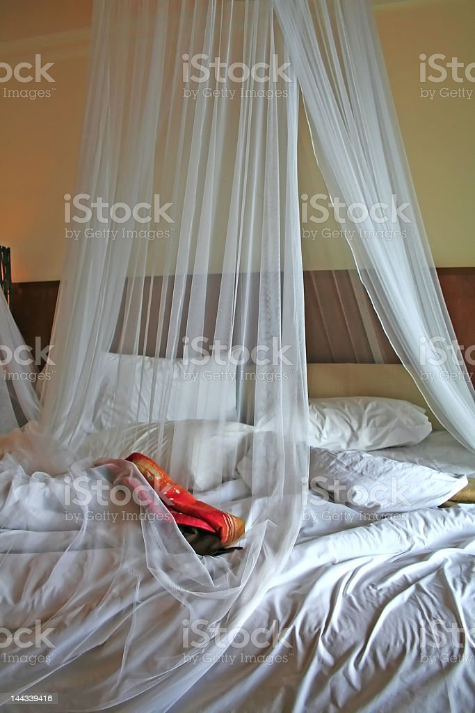 Tropical bed royalty-free stock photo