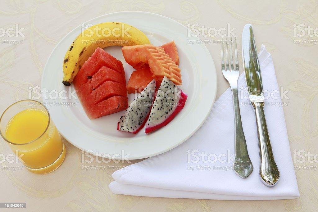 Tropical Breakfast stock photo