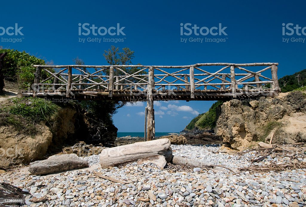 Tropical Bridge royalty-free stock photo
