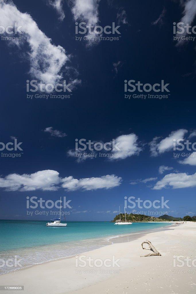 Tropical Caribbean Antigua Beach stock photo
