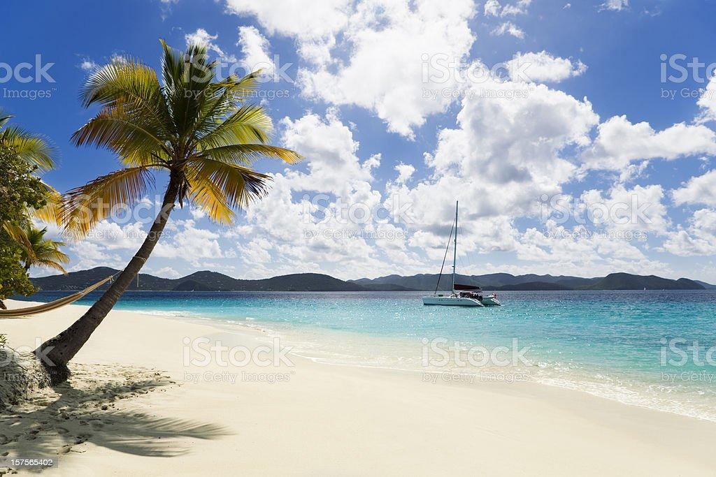 tropical Caribbean island stock photo