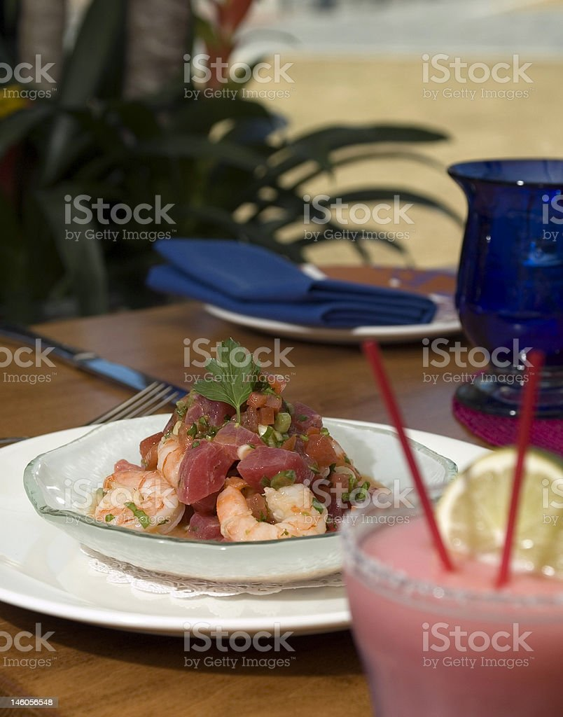 Tropical ceviche 2 royalty-free stock photo