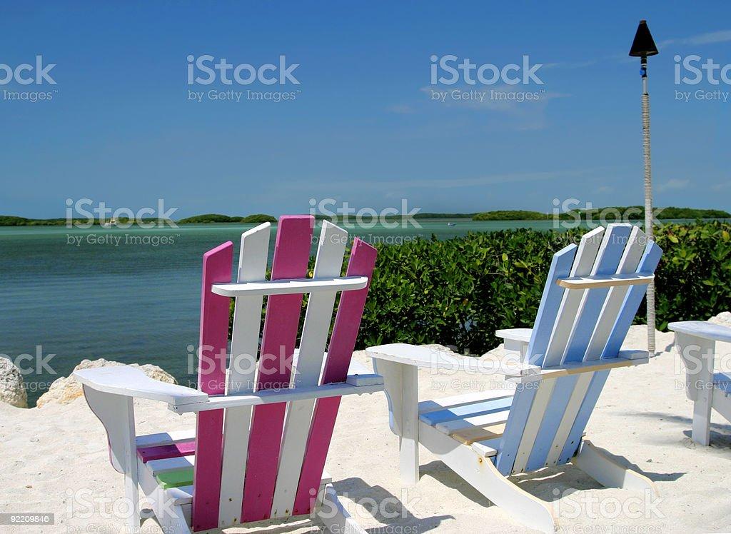 Tropical et chaises photo libre de droits