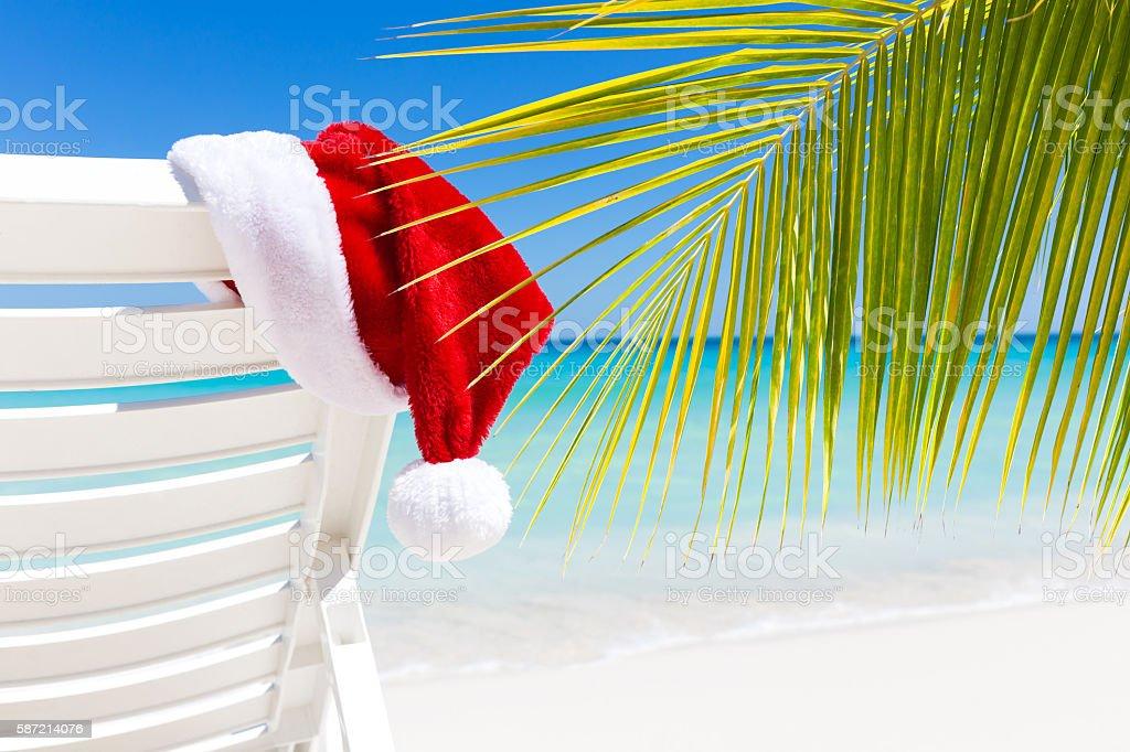 Tropical Christmas Card stock photo