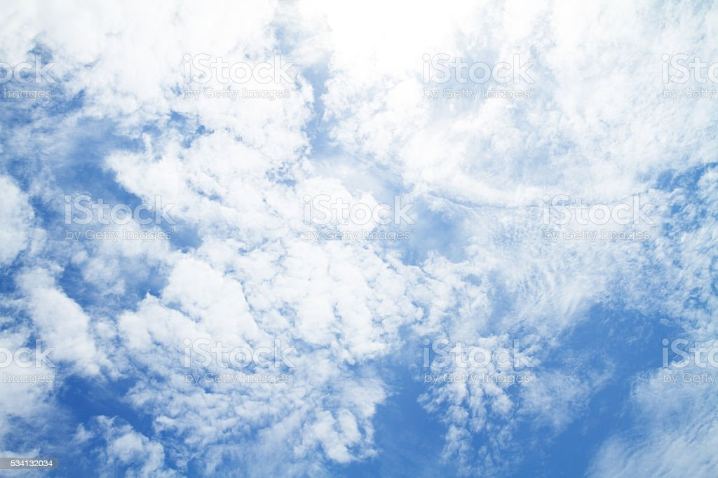Tropical cirrus sky stock photo