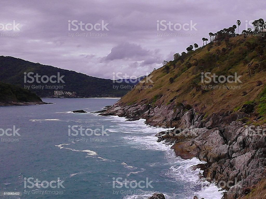 Tropical cliff stock photo