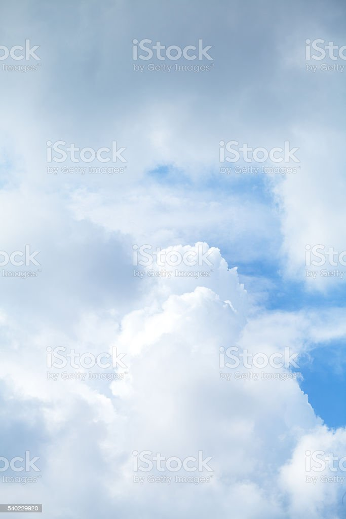Tropical clouds of rainy season stock photo