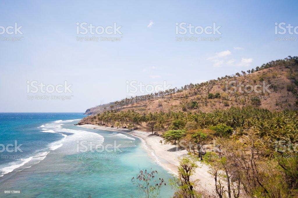 Tropical coastline stock photo
