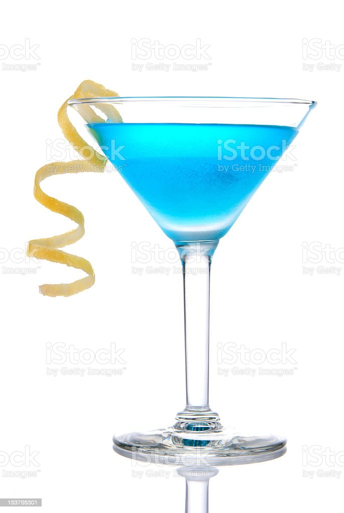 Tropical Cocktail in martini glass royalty-free stock photo