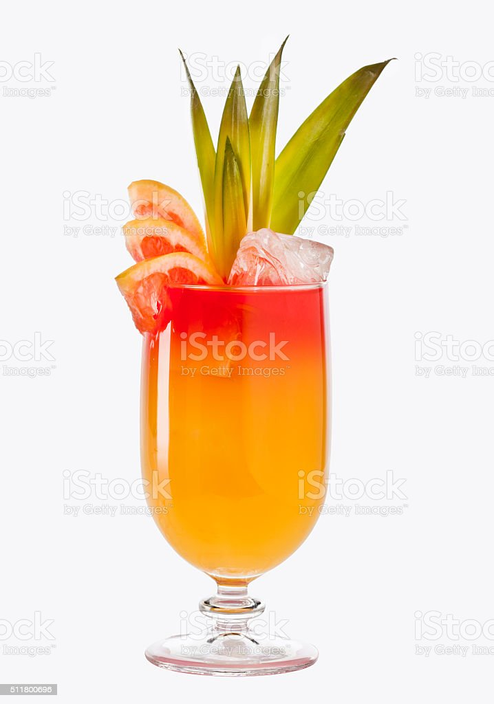 Tropical cocktail stock photo