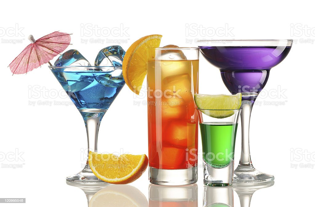 Tropical cocktails stock photo