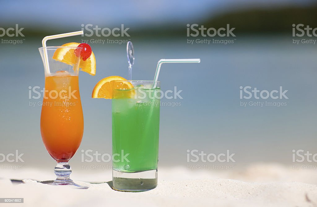 Tropical Cocktails royalty-free stock photo