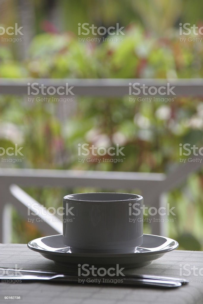 Tropical coffee cup royalty-free stock photo